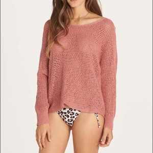 ❤️BILLABONG DANCE WITH ME OPEN KNIT SWEATER ~ S